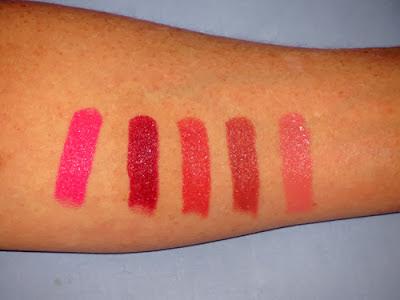 BareMinerals Kiss Tell Lipstick Set Swatches