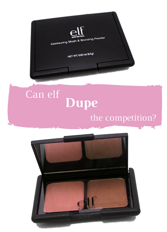 Can the makeup mavens at ELF dupe the competition with the Contouring Blush and Bronzing Powder?