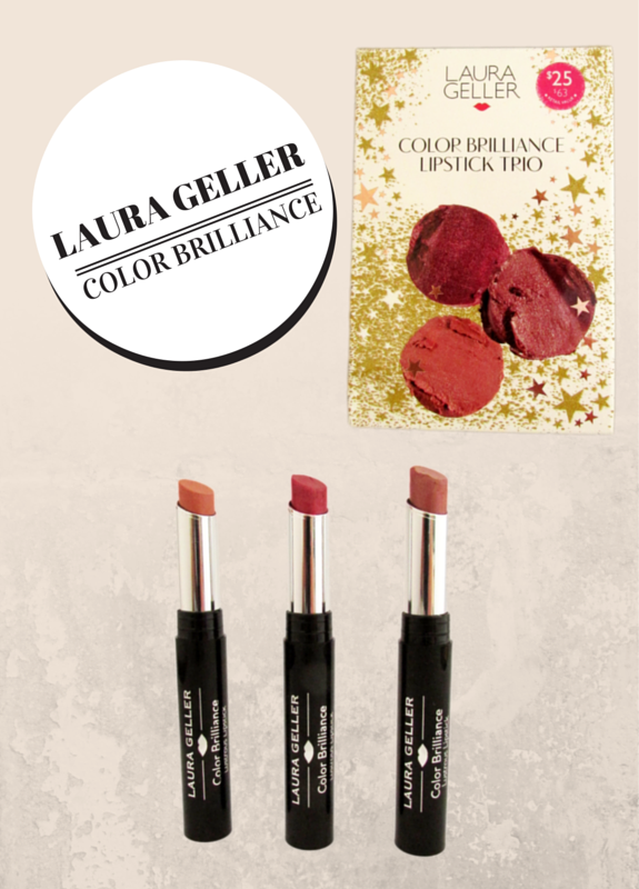 Laura Geller's Color Brilliance Lipstick Trio Makeup is infused with Coconut Oil and Vitamin E