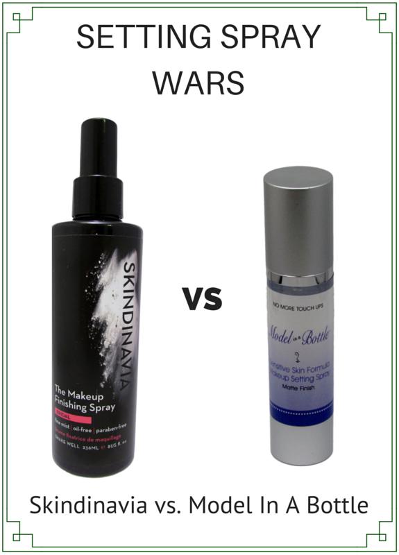 Skindinavia vs Model in a bottle Makeup Finishing Spray Makeup Setting Spray