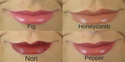 Perfect Bite Lipstick Set Swatches