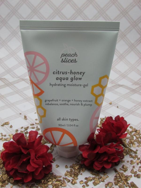 Peach Slices Citrus Honey Aqua Glow Hydrating Moisture Gel