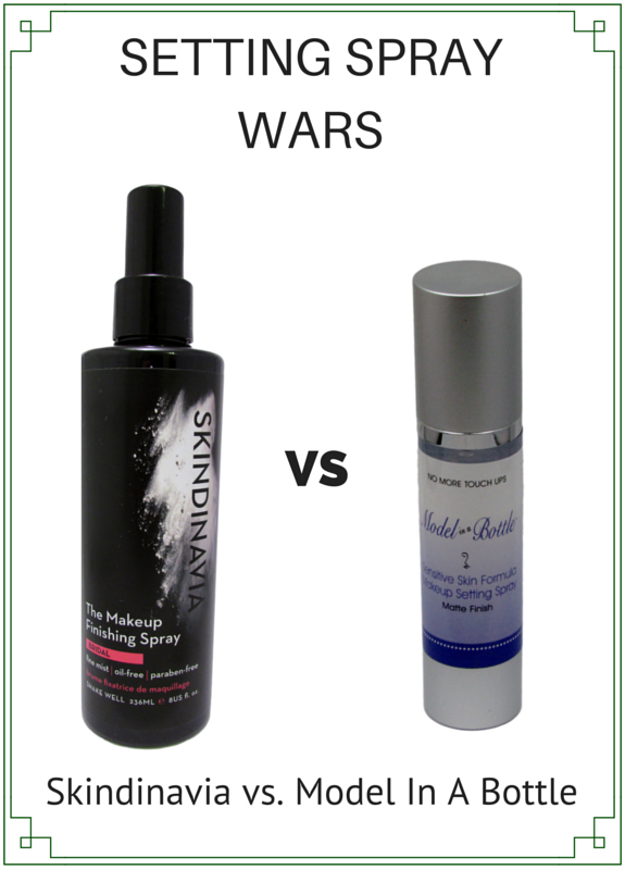Skindinavia vs Model in a bottle Makeup Finishing Spray Makeup Setting Spray